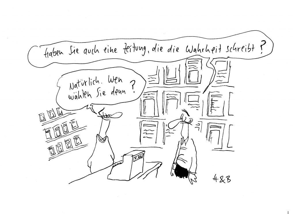 Die Karikatur wurde dem WEISSEN RING von Hauck & Bauer kostenfrei zur Verfügung gestellt. Wir sagen: Danke!