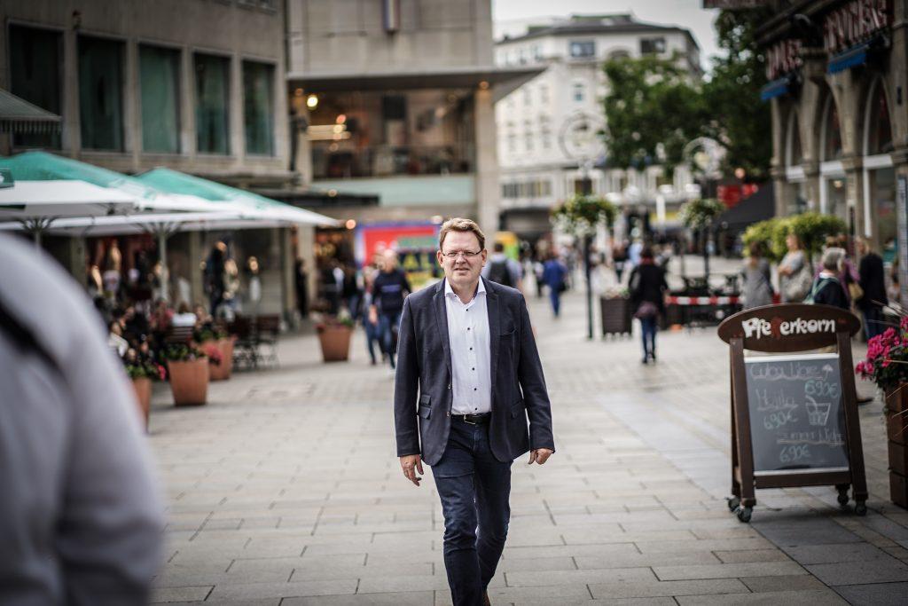 Im Jahr 2020 kandidierte Andreas Hollstein, der CDU-Mann, als Oberbürgermeister in Dortmund. ∙ Foto: Paul Schneider