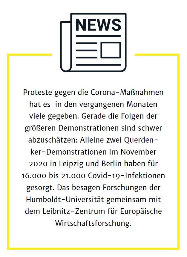 Proteste gegen Corona-Maßnahmen
